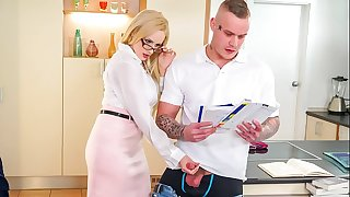 KINKY TUTOR - Hot Mummy Angel Wicky seduces & bangs student