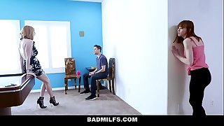 BadMILFS - Trampy Mother Fucks Stepdaughter And Her Beau