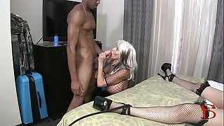 Tokyo Rose tied and screwed restrain bondage Big black cock Sally D'angelo Rose Royal