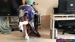 Stepmom gets stuck while sneaking out and fucks stepson to get free - Erin Electra