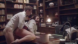 Secretary Ivy Lebelle gets hard anal hookup and squirts