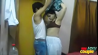 Indian young girl lovemaking with her beau