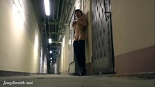 All alone naked in some warehouse